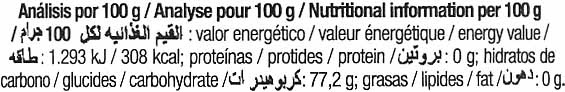 Sirope de agave Dark - Informació nutricional