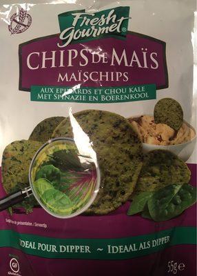 Chips de maïs Epinards et chou kale - Product - fr