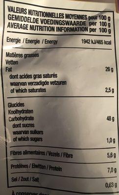 Chips de maïs Epinards et chou kale - Nutrition facts - fr