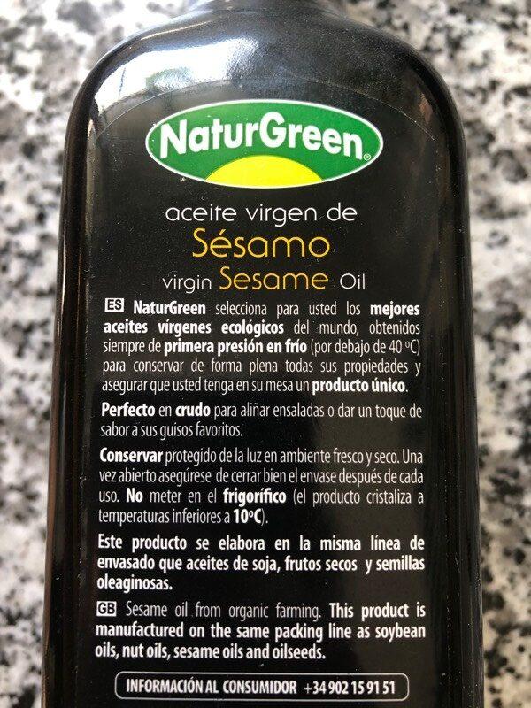 Aceite de Sésamo - Ingredients