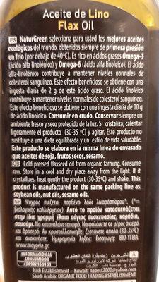 Huile de lino - Ingredientes - fr