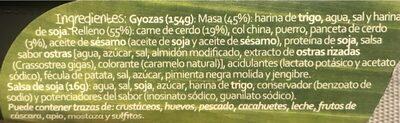 Dim Sum gyoza de carne envase 170 g - Ingrédients - fr