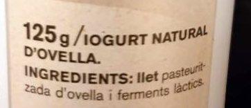 Iogurt ferm ovella - Ingrediënten