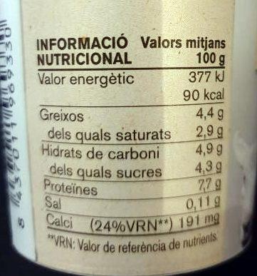 Iogurt ferm ovella - Voedigswaarden