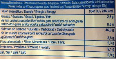 Pan de molde - Informations nutritionnelles - fr
