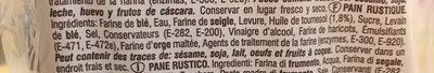 Pan Rustico - Ingredientes