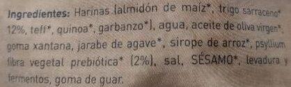 Pan de molde de trigo sarraceno - Ingredientes