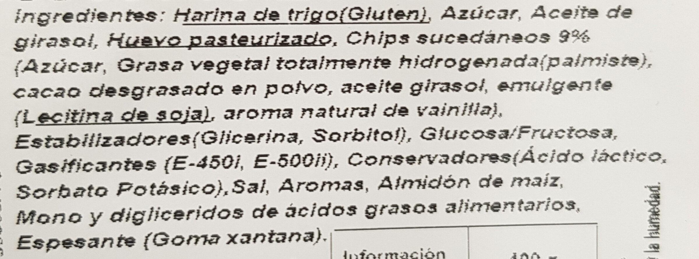 Mojicones Pepitas - Ingredients