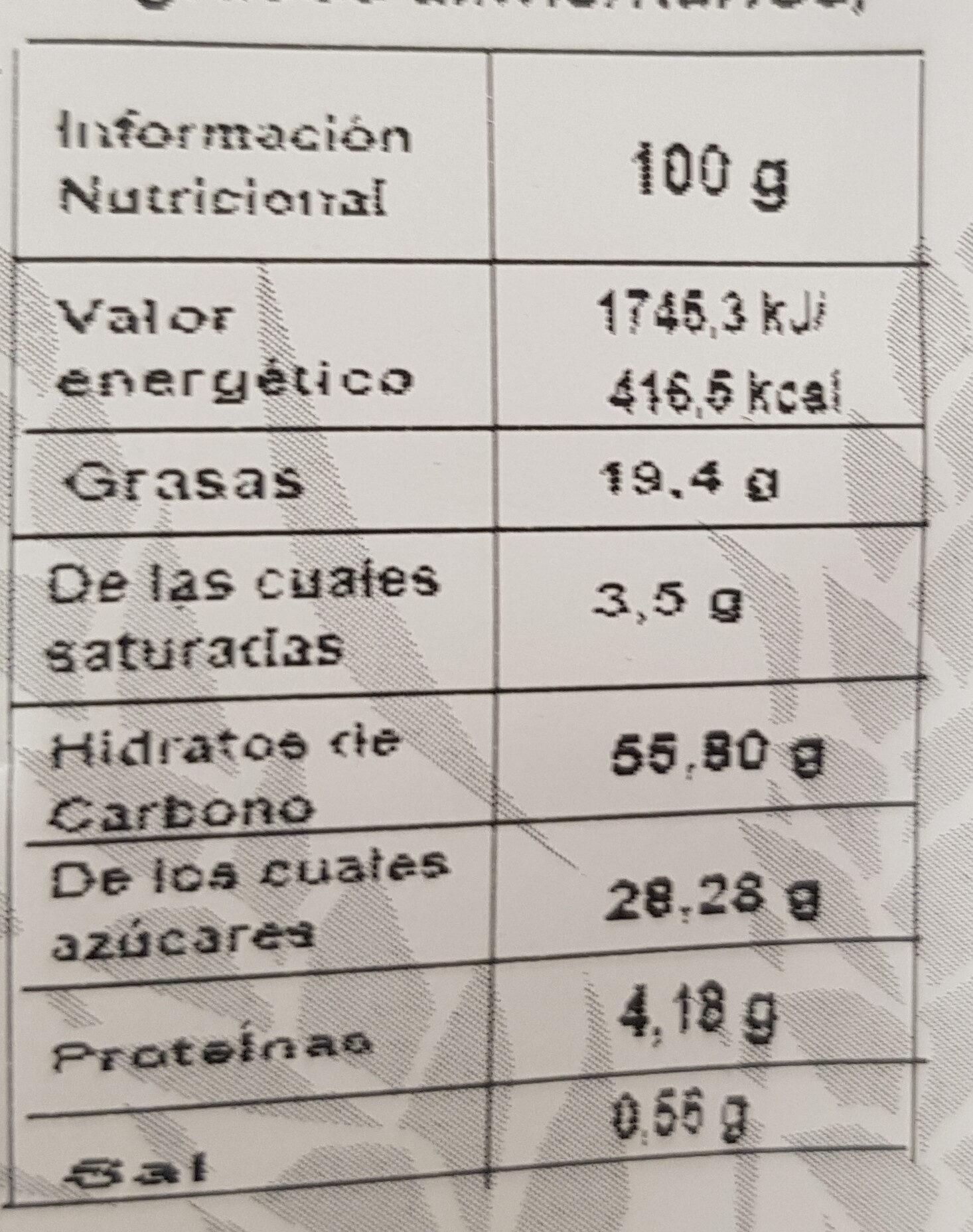 Mojicones Pepitas - Nutrition facts