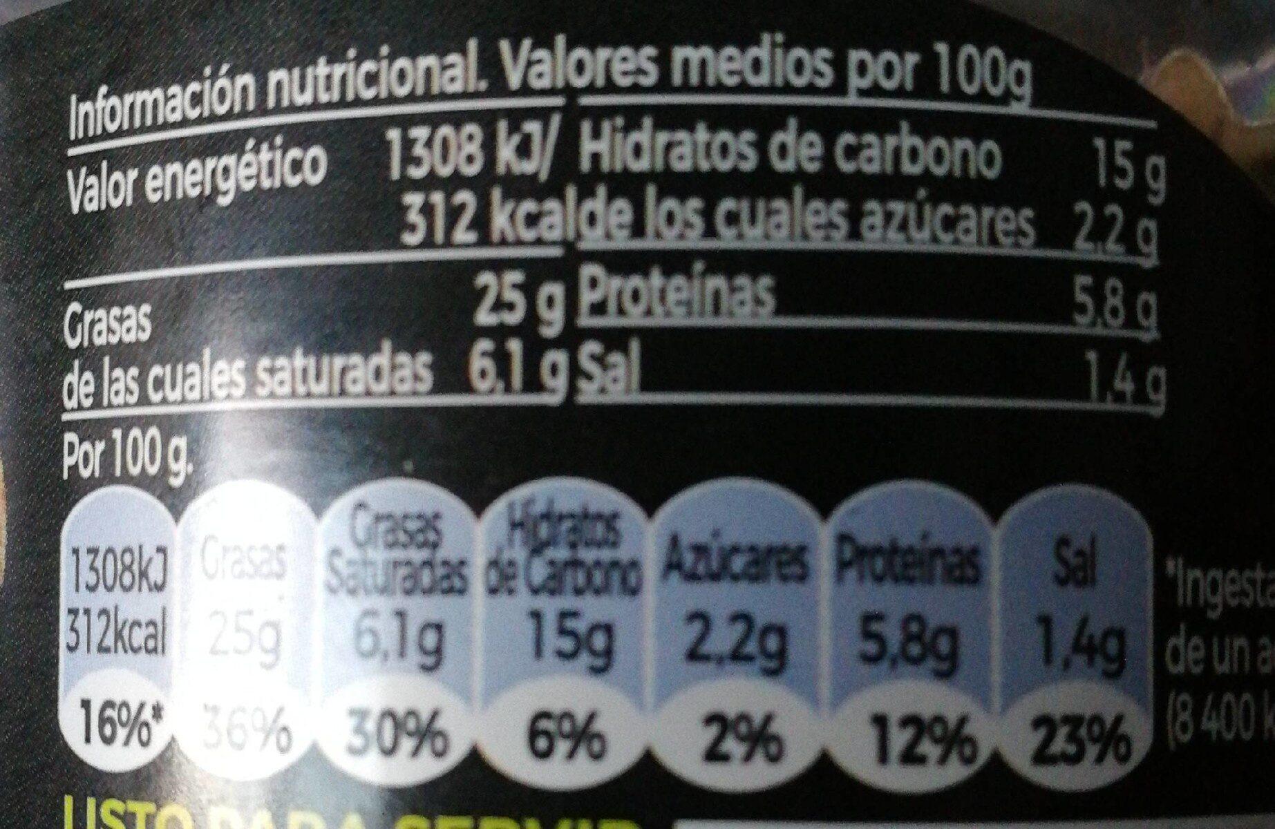 Untable de Salmón - Información nutricional - es