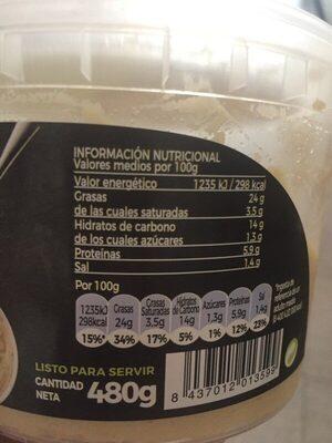 Hummus - Información nutricional - es