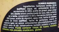 Hummus Marrakech - Ingredientes - es