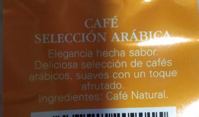 Café molido. Selección Arábica - Nutrition facts