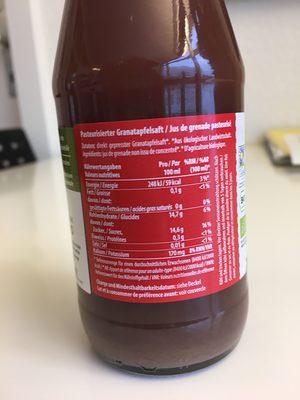 Granatapfelsagt - Ingrediënten
