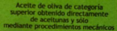 Aceite de oliva virgen extra ecológico - Ingredientes - fr