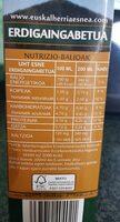 Euskal herria esnea semidesnatada - Voedingswaarden - es