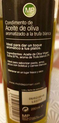 Acete de oliva - Produit