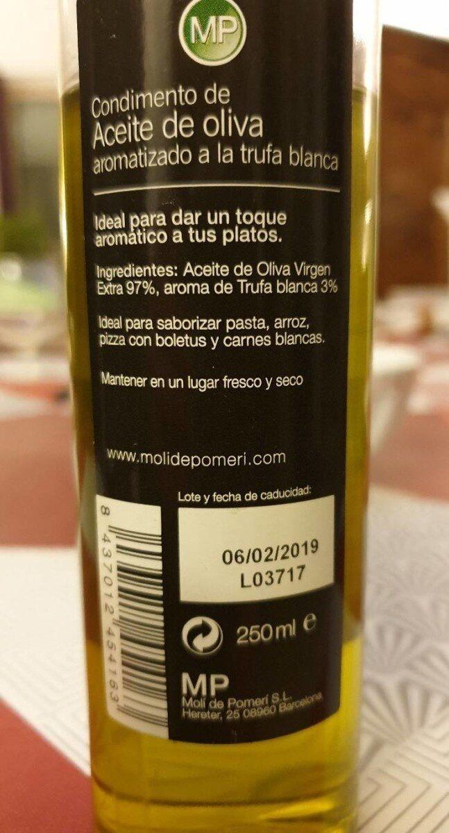Acete de oliva - Informations nutritionnelles - fr