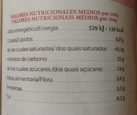 Amazake mijo - Nutrition facts