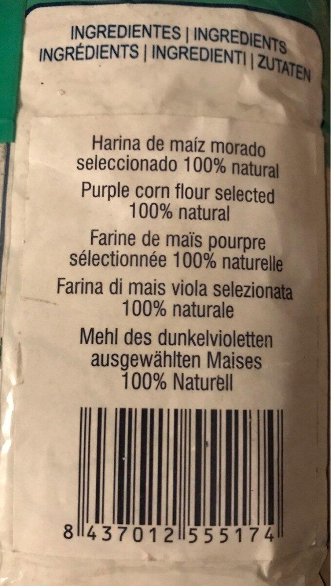 Harina de Maíz Morado - Información nutricional - es