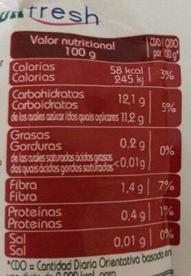 Naturfresh frutos rojos - Informations nutritionnelles - es