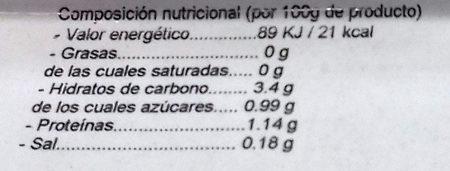 Ensalada mixta - Informations nutritionnelles - es