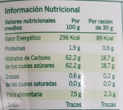 Born Pera - Información nutricional - es