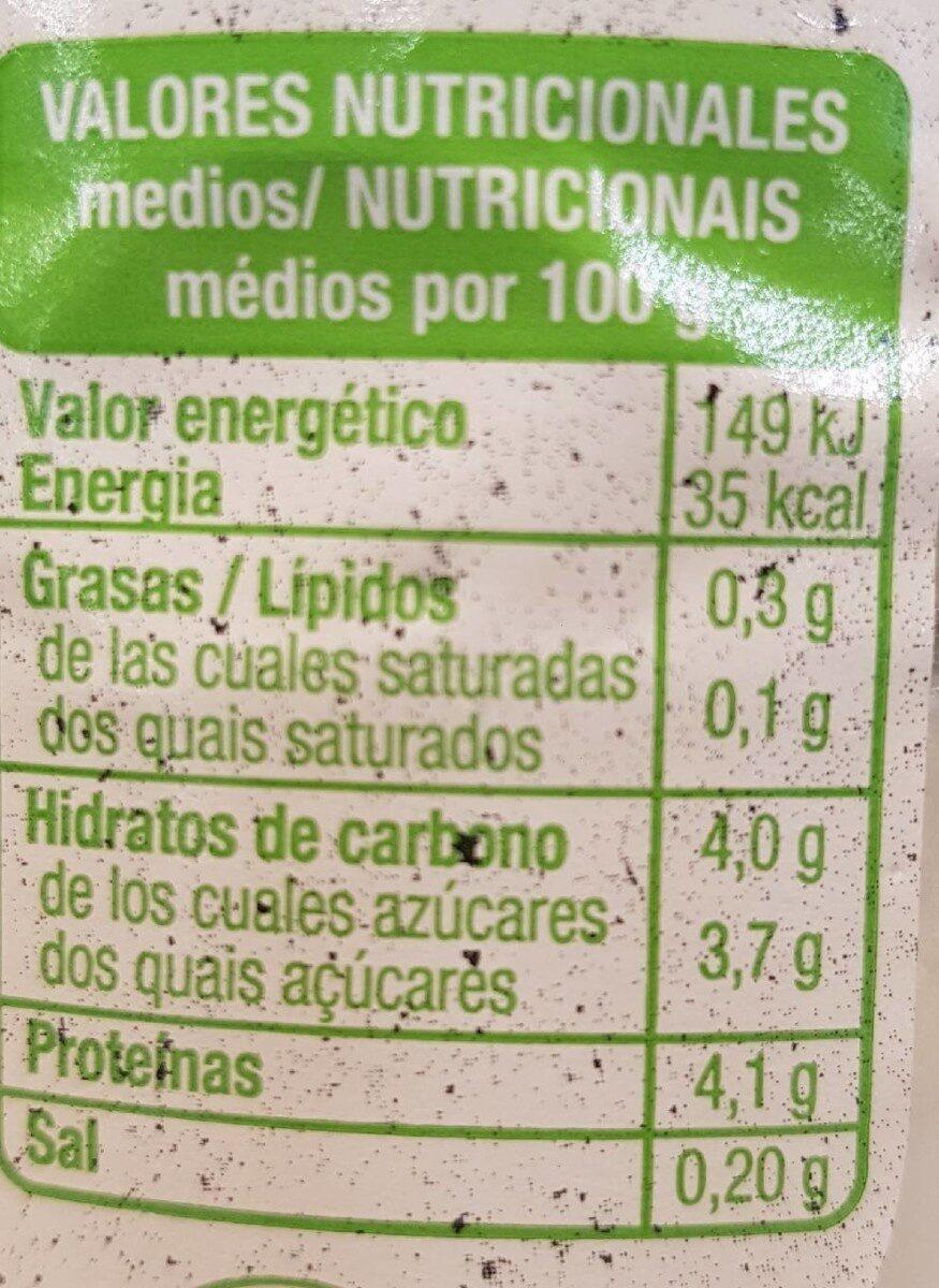 Kefir de cabra desnatado - Informations nutritionnelles - es