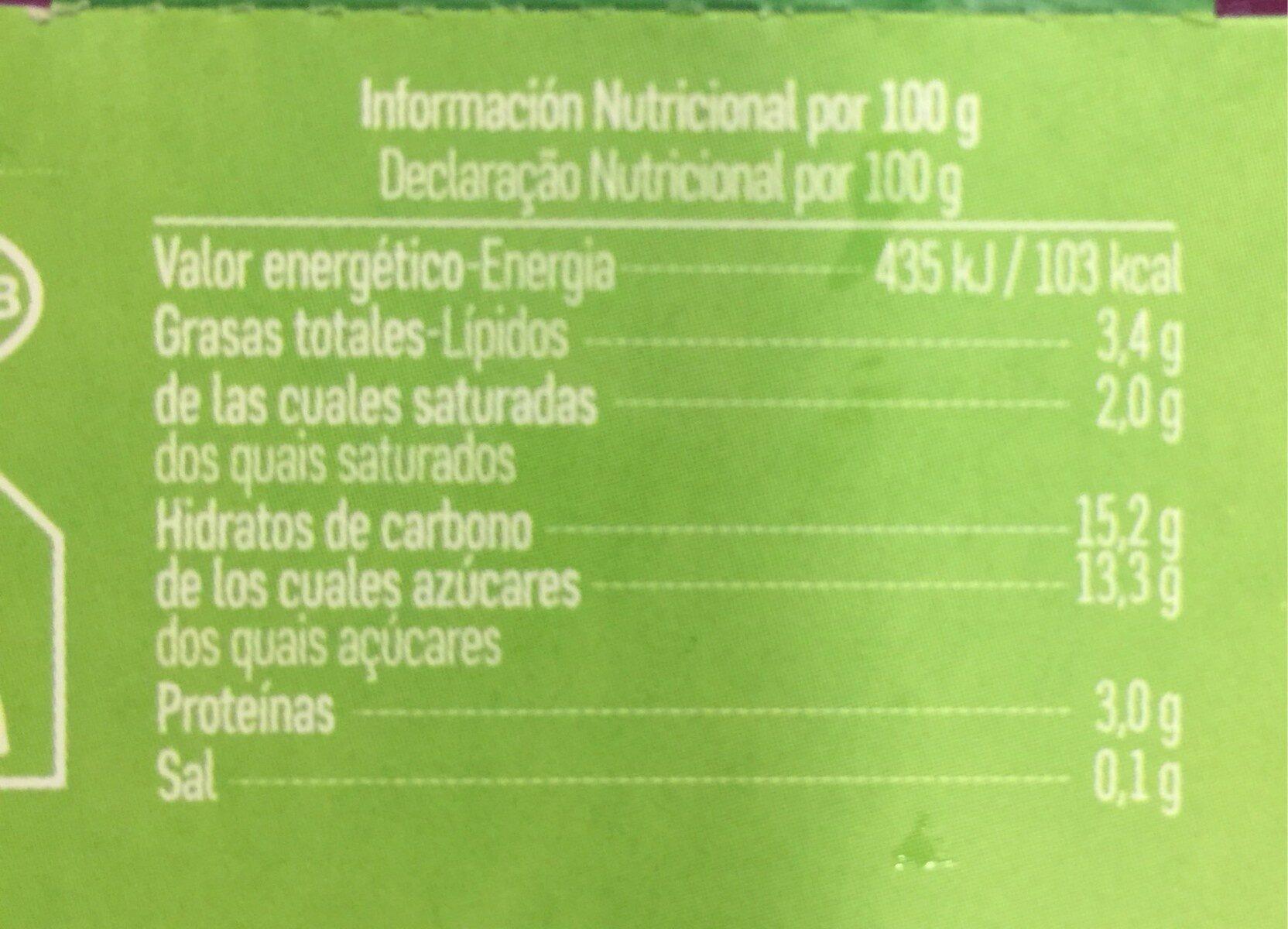 Yogur ecologico de cabra con arandanos - Nutrition facts