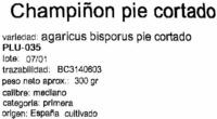"""Champiñones enteros """"La Cañada"""" - Ingredients - es"""