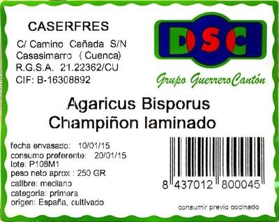 """Champiñones laminados """"Caser Fresh"""" - Ingredients"""
