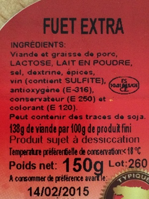 Fuet extra - Product - fr