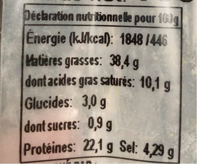 Fuet extra - Nutrition facts - fr