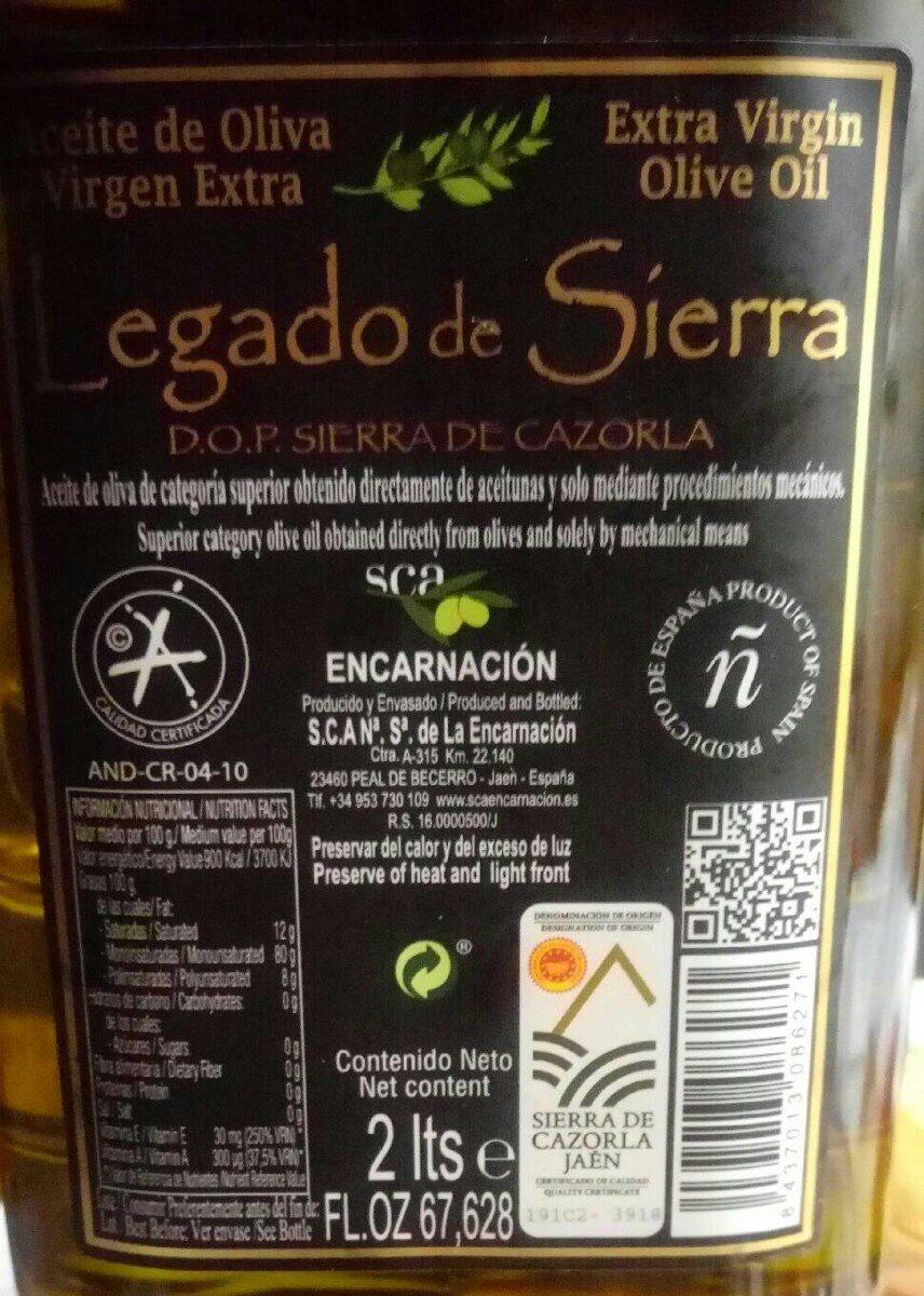 Aceite de Oliva Virgen Extra - Product
