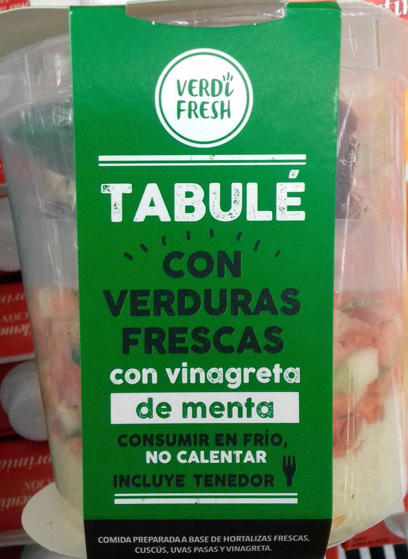 Tabulé con verduras frescas con vinagreta de menta - Producte - es