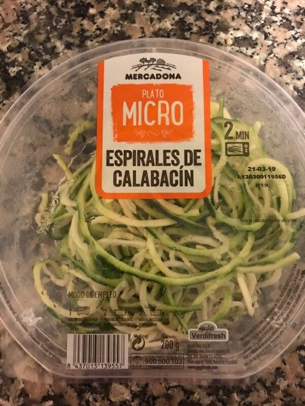 Espirales de calabacín - Produit - es