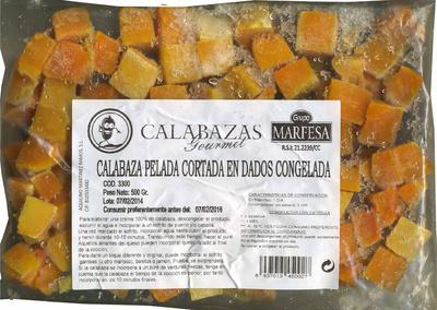 """Calabaza pelada en dados congelada """"Grupo Marfesa"""" - Produit - es"""