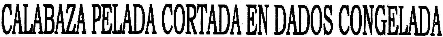 """Calabaza pelada en dados congelada """"Grupo Marfesa"""" - Ingrédients - es"""