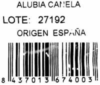 Alubias canela - Ingredients