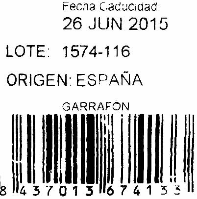 Garrofón - Ingredientes - es