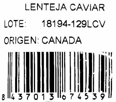Lentejas negras - Ingredients - es