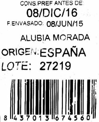 Alubias moradas - Ingredientes