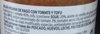 Ragú con Tofu Vegano - Ingredients