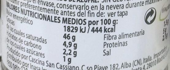Pesto con Soja Vegano - Información nutricional - es