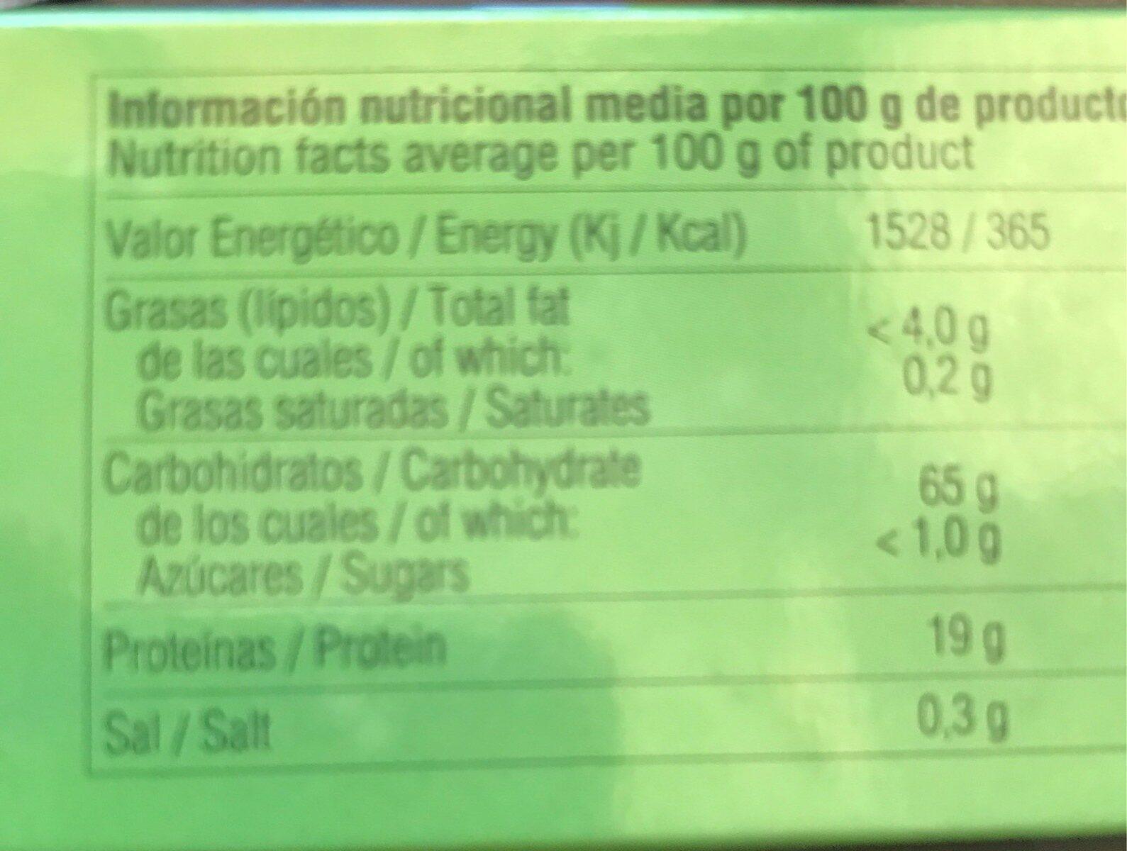 Menta Árabe - Nutrition facts