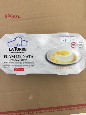 Fan de nata y limon (Panna Cotta) - Producto