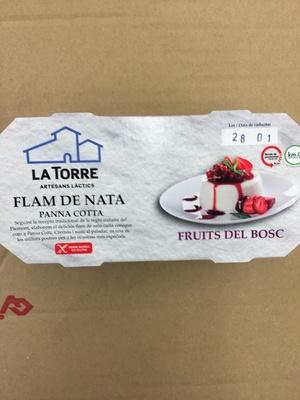 Flam de nata fruites del bosc - Producto