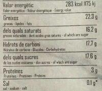 Flam de nata fruites del bosc - Información nutricional