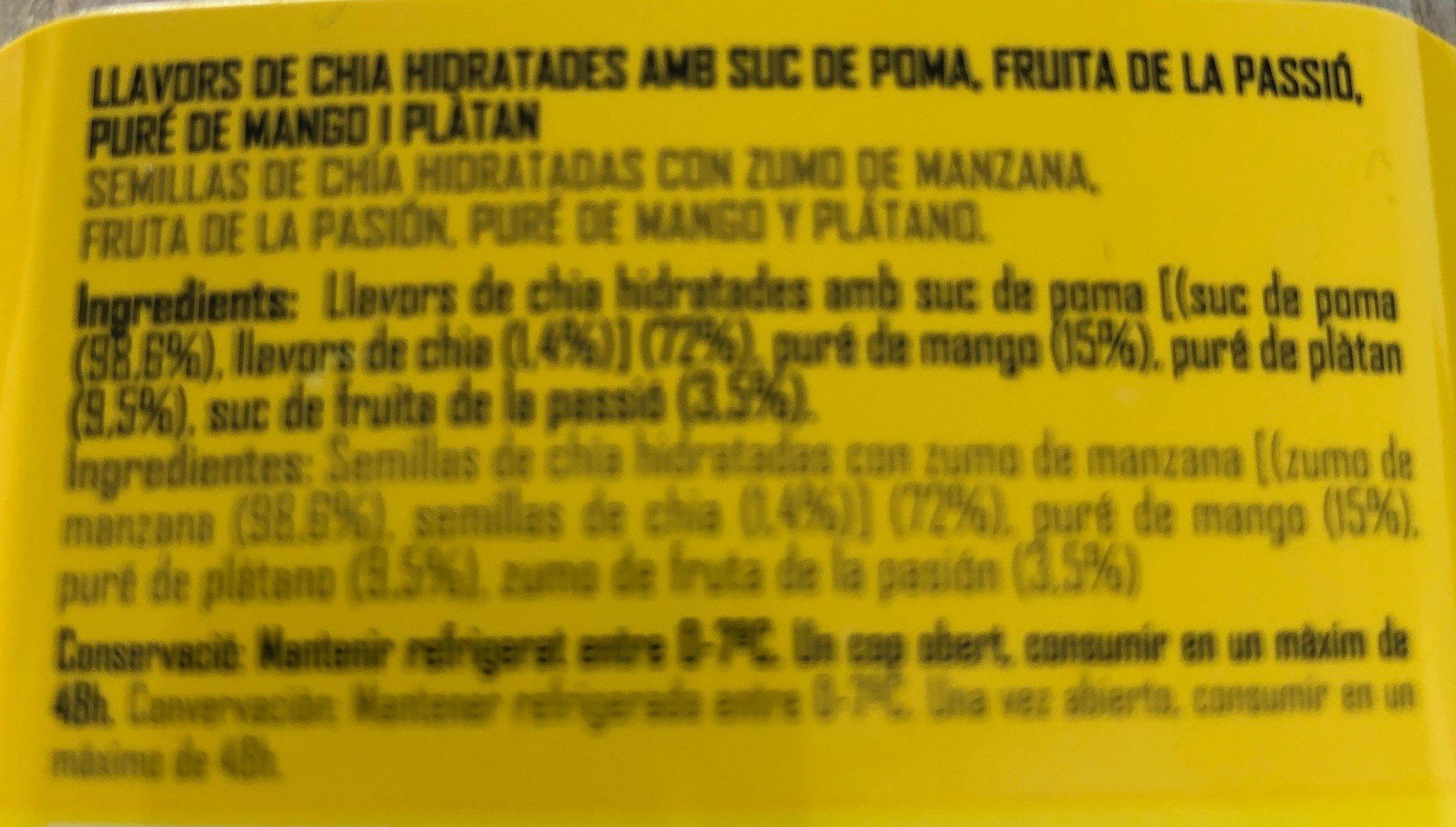 Cuida't Tropical - Ingrédients