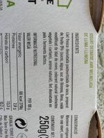 IOGURT LLIMA I LLIMONA - Ingredientes